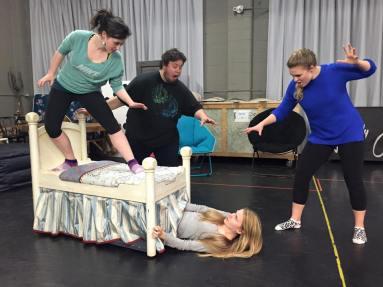 "In rehearsal for ""Goldilocks and The Three Bears"""