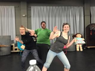 Choreography rehearsal for Goldilocks